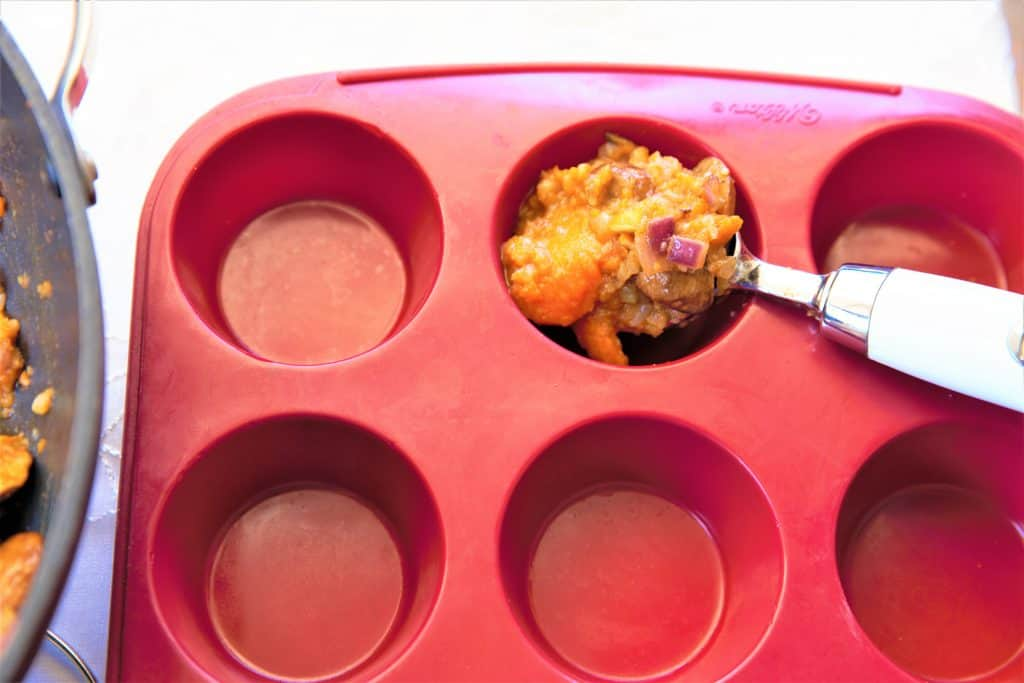 Scoop into muffin pan