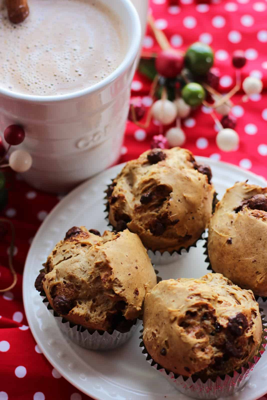 Cappuccino Muffins With Mocha Glaze