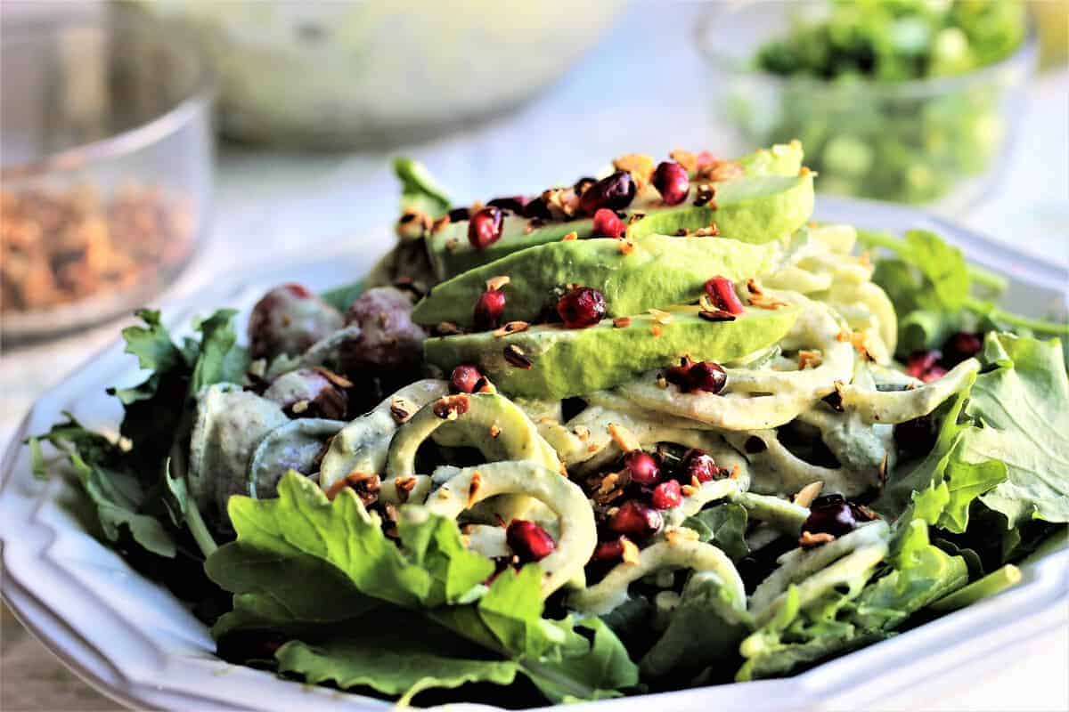 Red & Green Healthy Holiday Salad