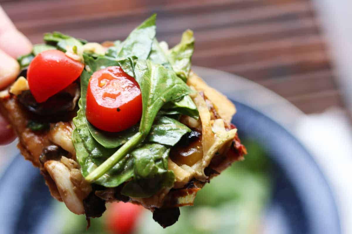Grilled Vegetable Pizza With Mixed Greens