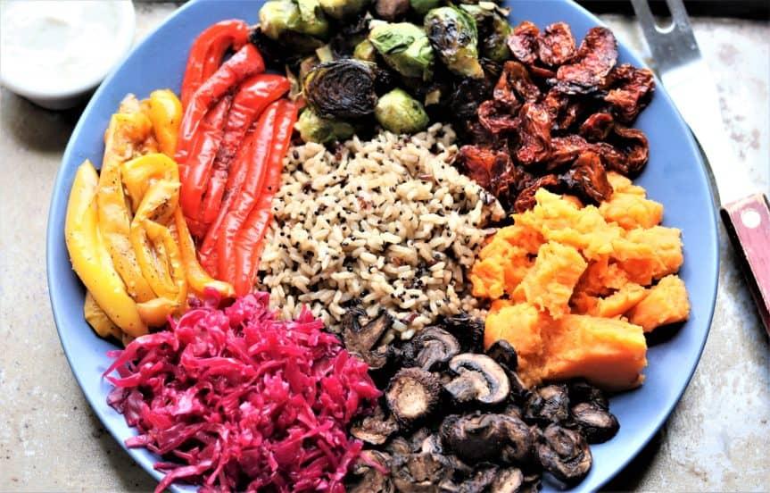 Rainbow Vegetable Buddha Bowl