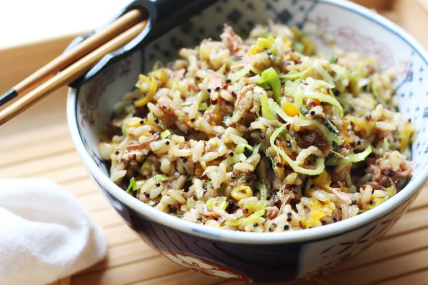 Fried Jackfruit Rice With Maple Ginger Glaze