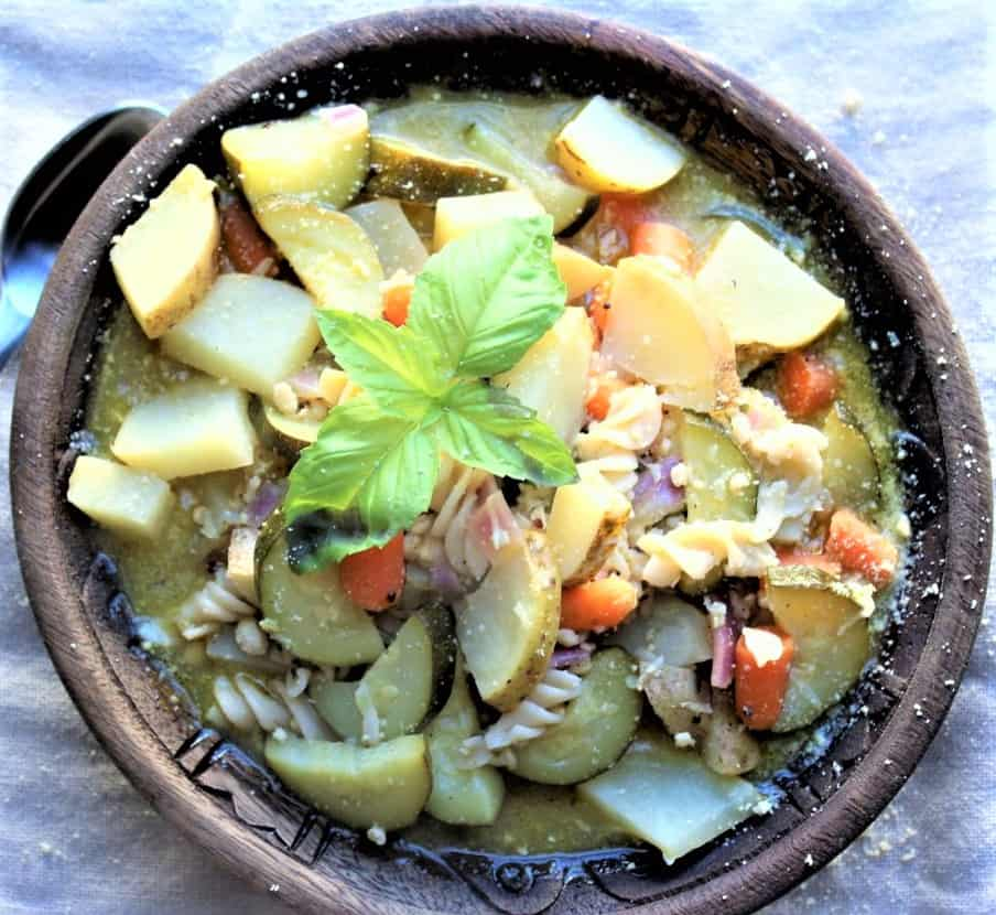 Hearty Provencal Vegetable Soup With Pesto