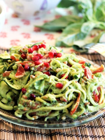 Zoodles With Avocado Basil Pesto