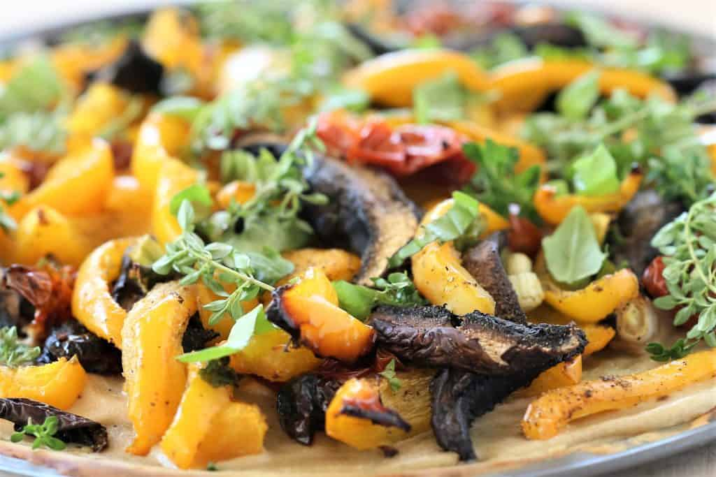 Grilled Veggie and Herb Pizza