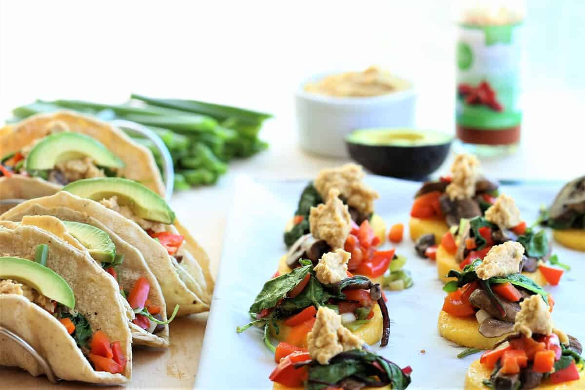 Vegetable Tacos With Chipotle Hummus