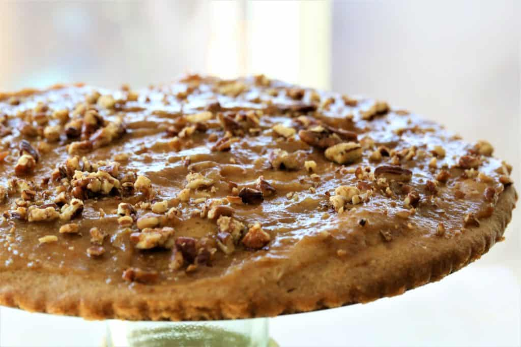 Cinnamon Breakfast Cake With Date Glaze is a light and fluffy vegan, gluten free and dairy free treat.