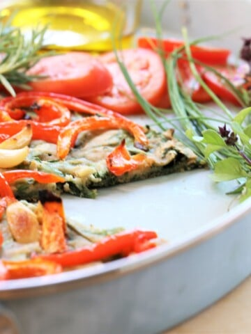 Vegetable Pizza Bread With Herbs