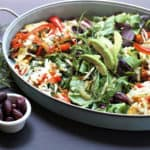 cauliflower crust vegetable pizza salad