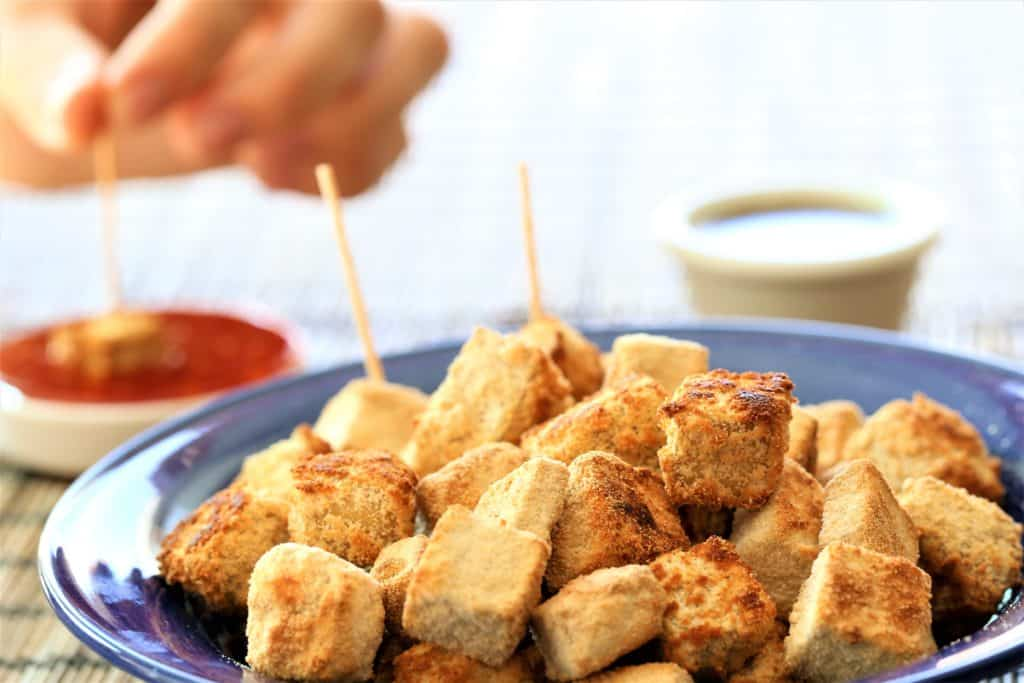 Crispy Tofu Bites are flavorful and crunchy vegan appetizers.