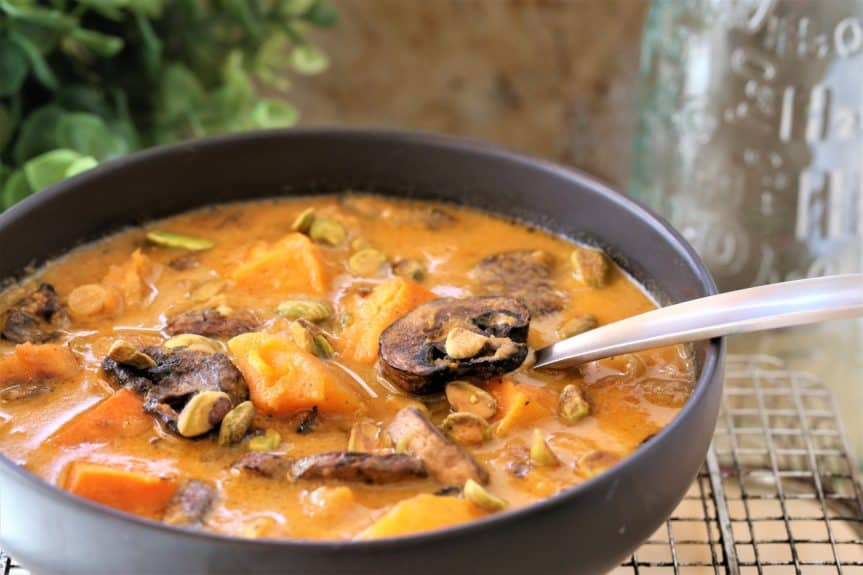 Roasted Squash and Mushroom Soup