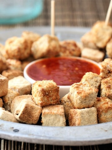 Crispy Tofu Bites With Red Chili Sauce
