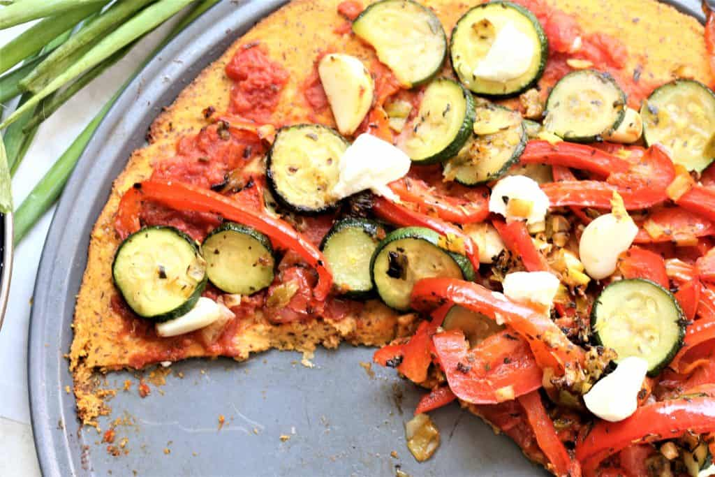 Sweet Potato Vegetable Pizza Salad