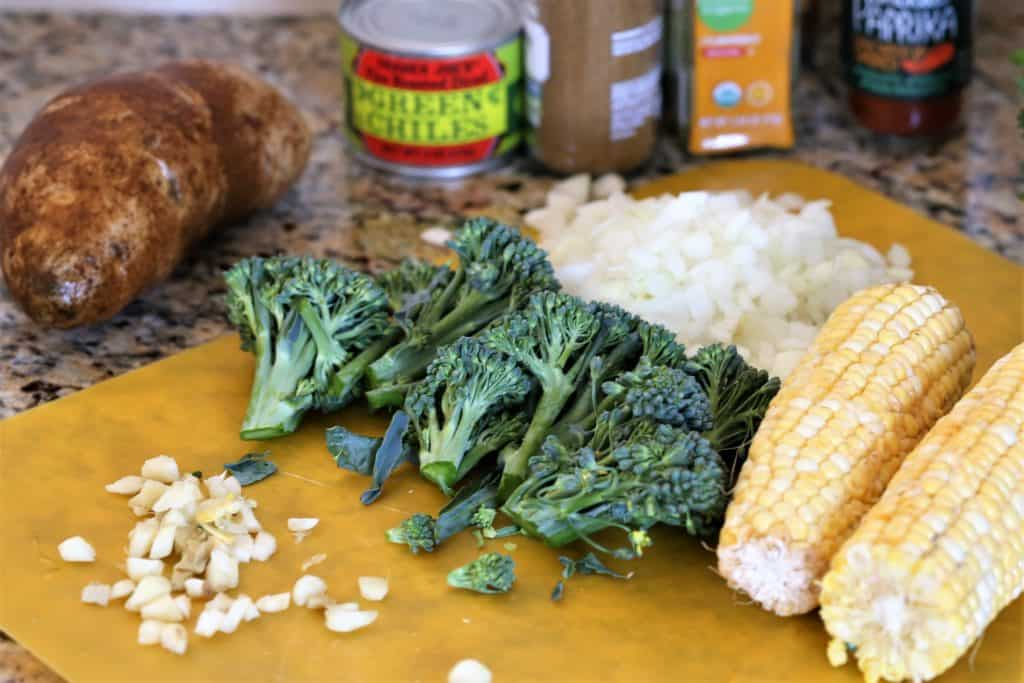 Vegetable fritters ingredients