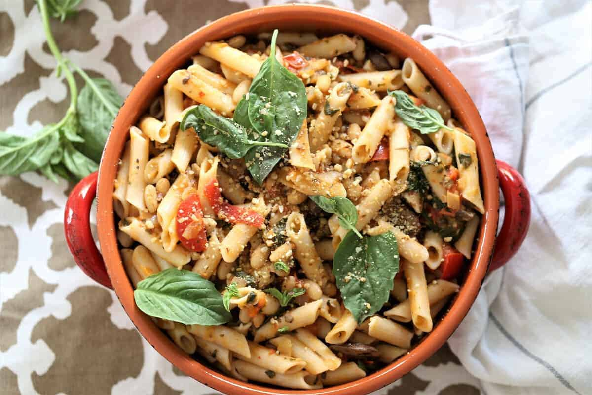 Penne with Green Beans and Basil