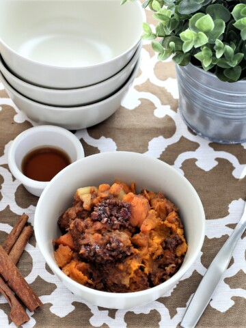 Sweet Potato Apple Crisp Instant Pot