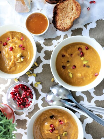 Sweet Butternut Ginger Soup With Maple Cinnamon