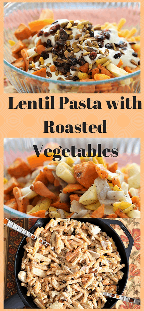 Lentil Pasta With Roasted Vegetables