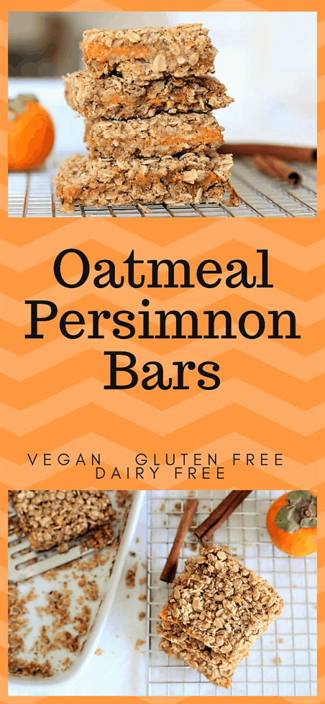 Oatmeal Persimmon Bars