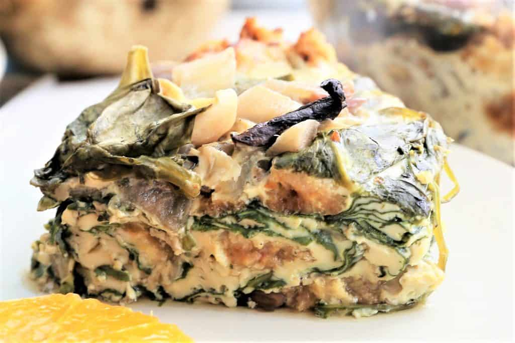 Spinach Mushroom Quiche Breakfast Bowl