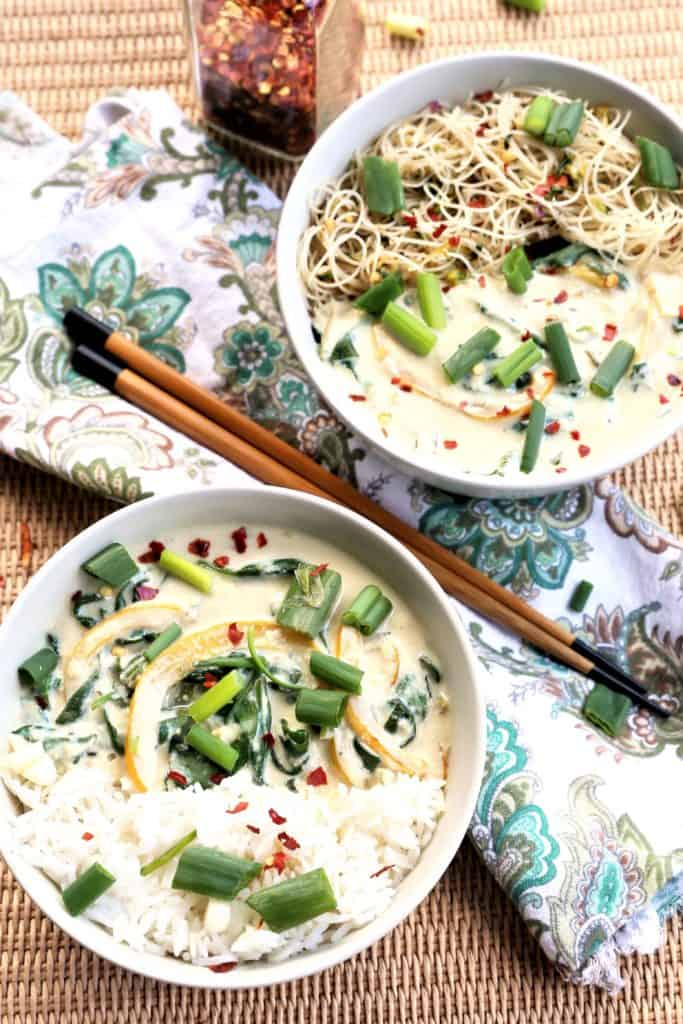 Spinach Tofu Green Curry