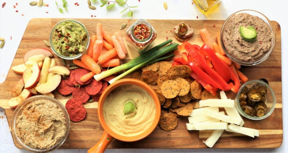 Vegan Dip and Veggie Platter