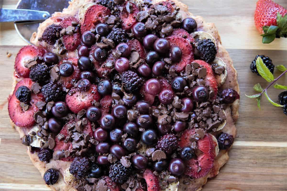 Berry Chocolate Pizza