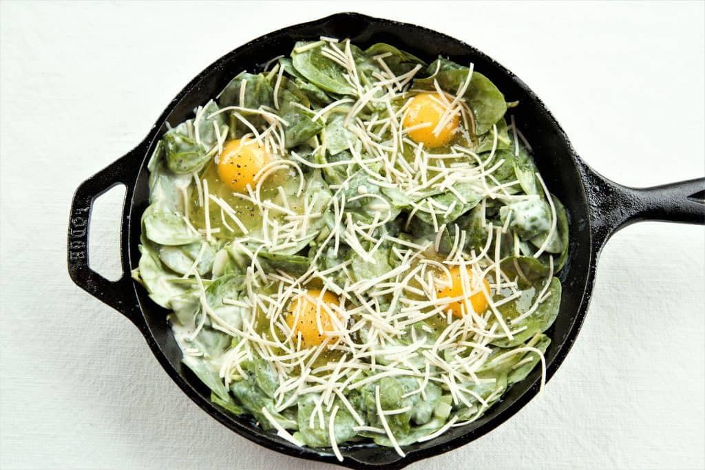 Creamed Spinach Eggs
