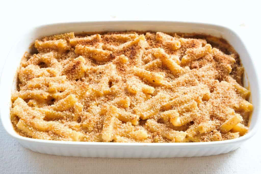Vegan Mac and Cheese Baking