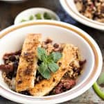 Crispy Cuban Tofu Rice and Beans