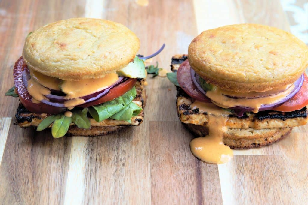 Grilled Chipotle Tofu Sandwich