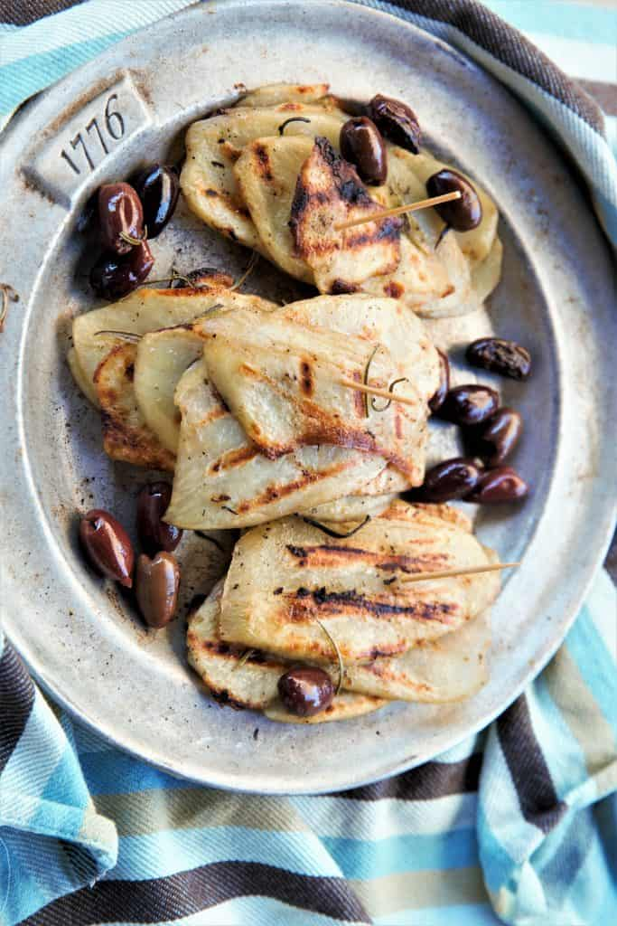 Grilled Rosemary Olive Potatoes