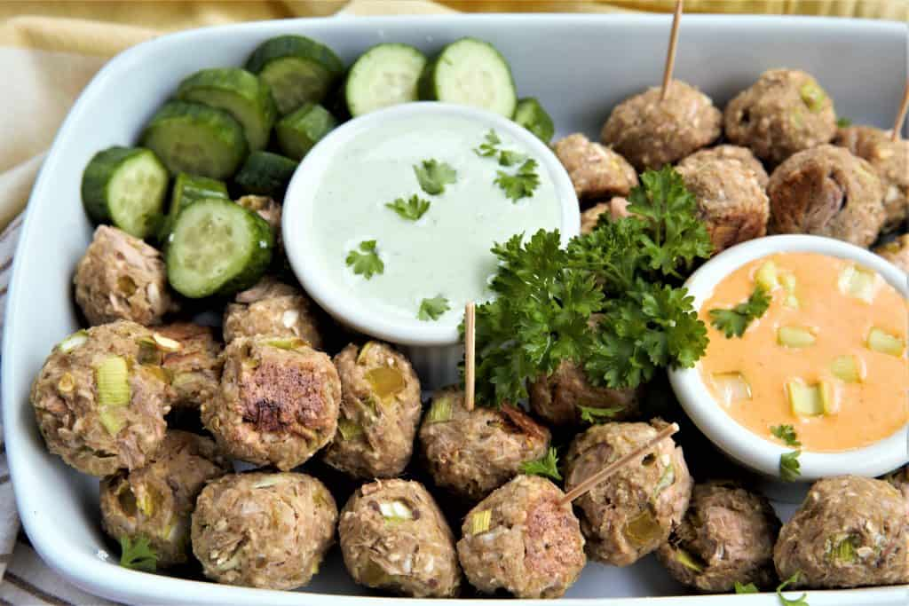 Vegan Meatball Appetizer