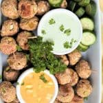 Vegan Meatball Appetizers With Cucumber Dill Dip