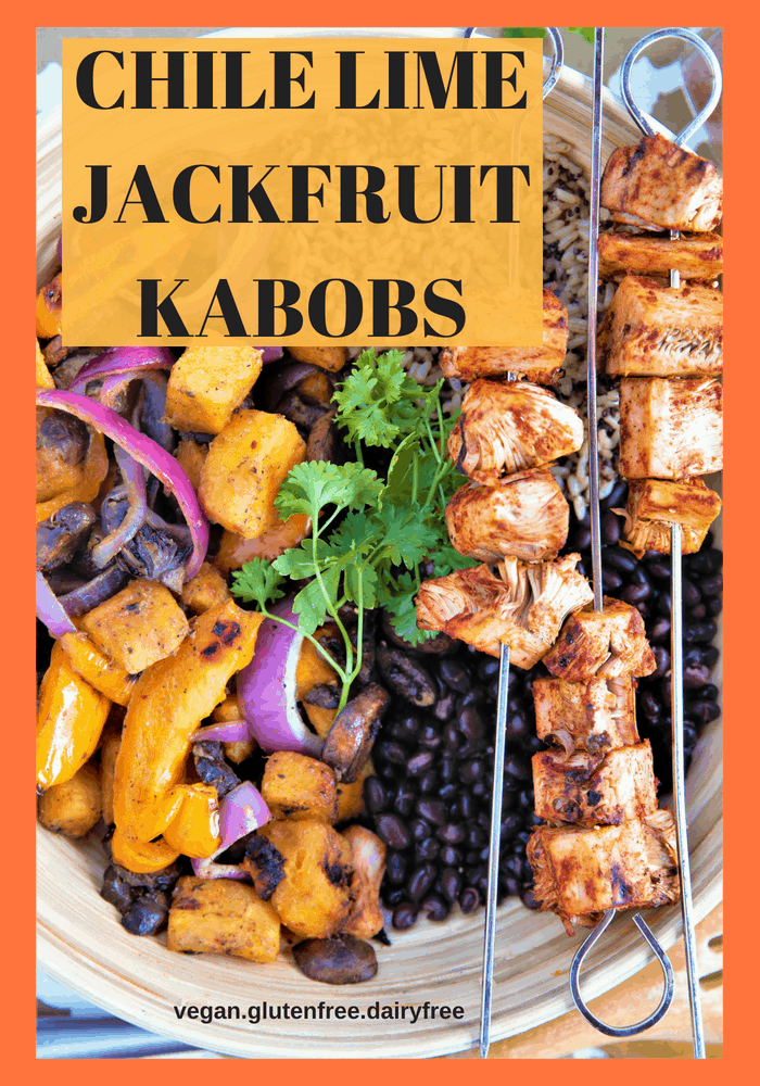 Chile Lime Jackfruit Kabobs