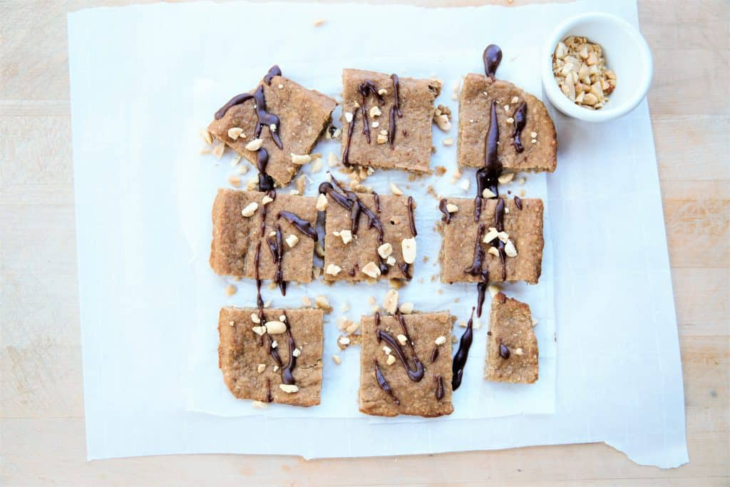 Peanut Butter Banana Squares