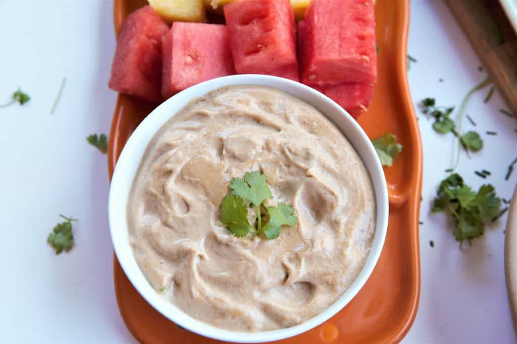 Sweet Fig Dip With Fruit
