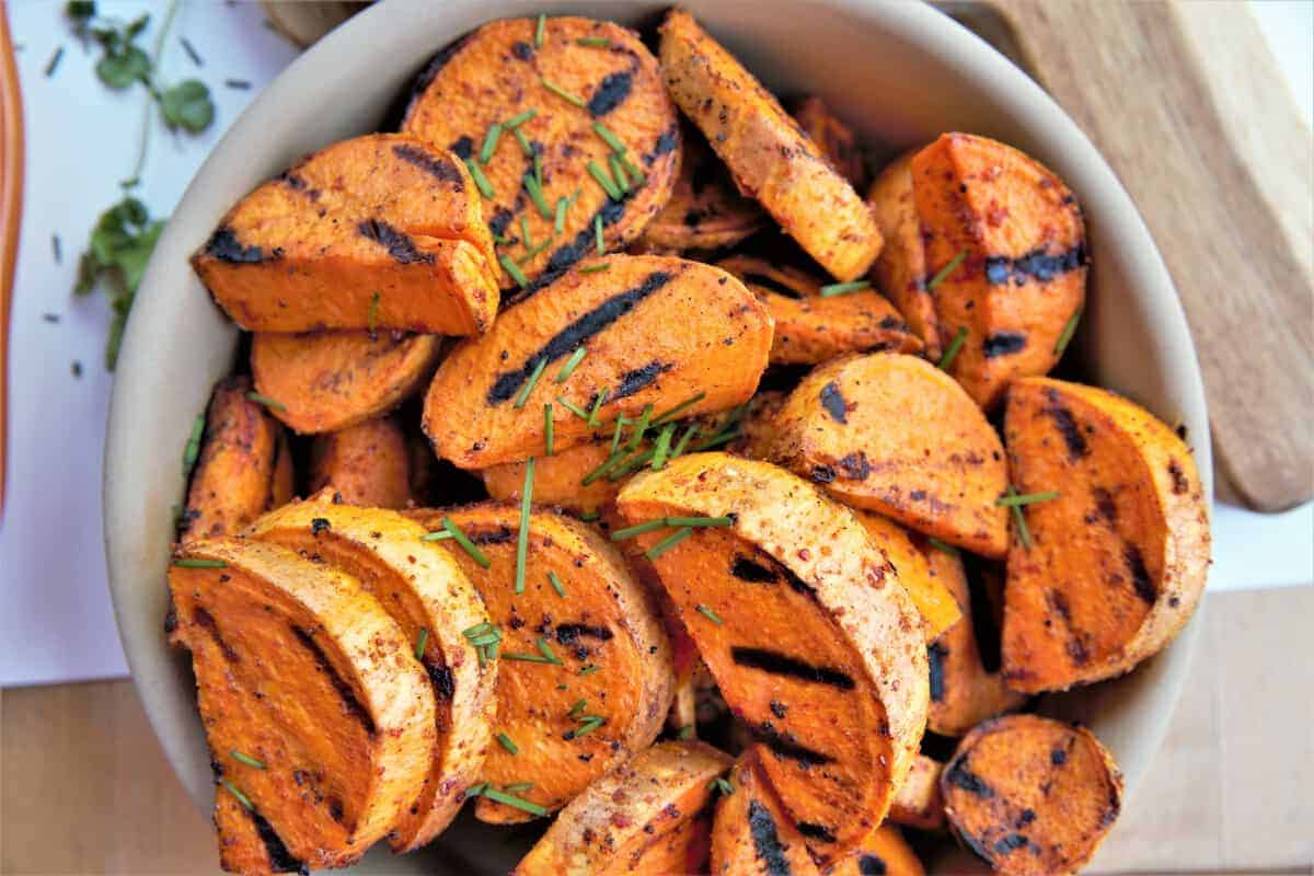 Grilled Chile Lime Sweet Potato Wedges