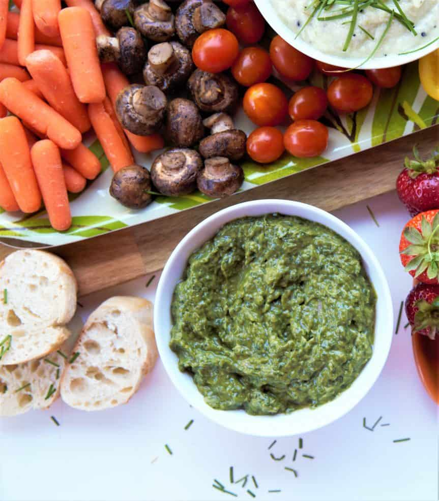 Kale Spinach Avocado Dip