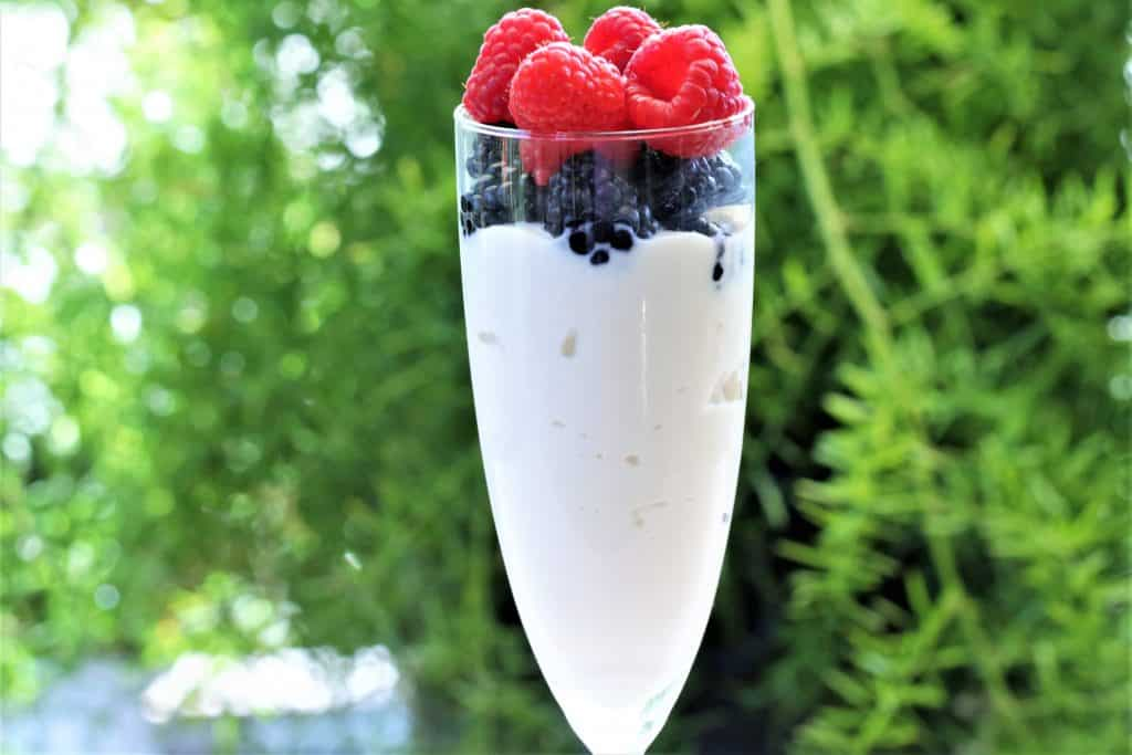 Homemade berry yogurt