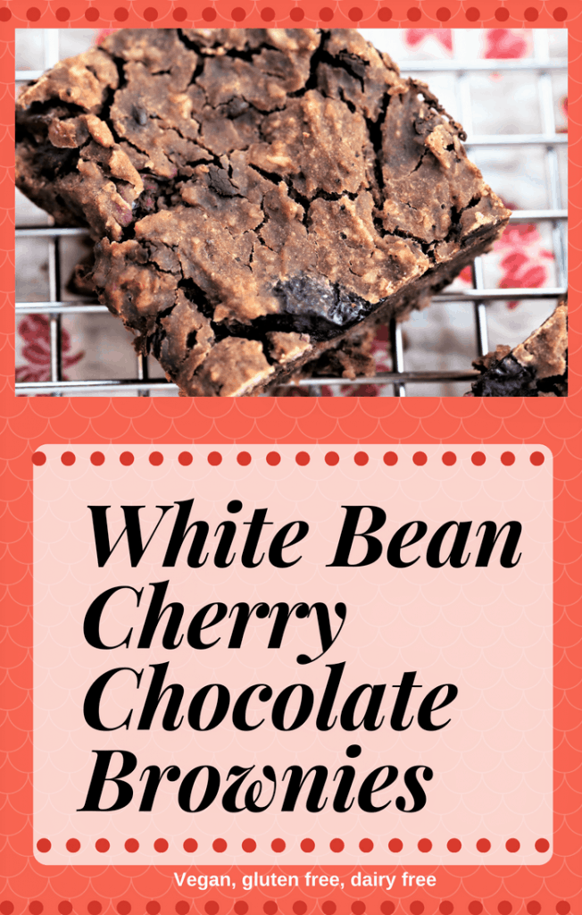White Bean Cherry Chocolate Brownies