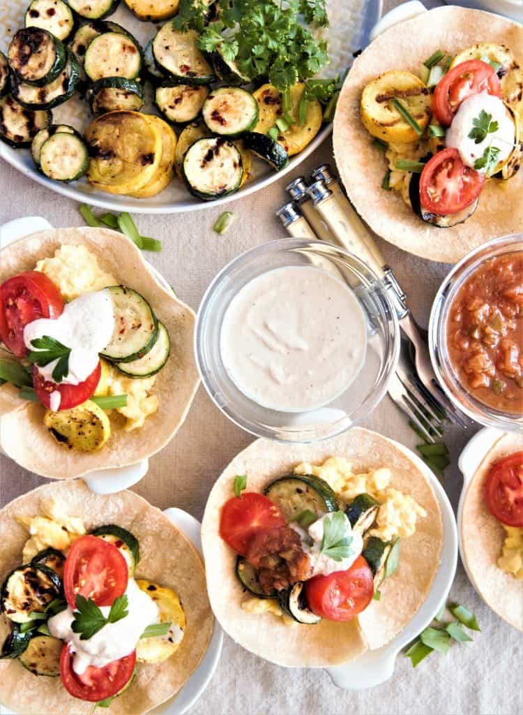 Grilled Vegetable Breakfast Tacos