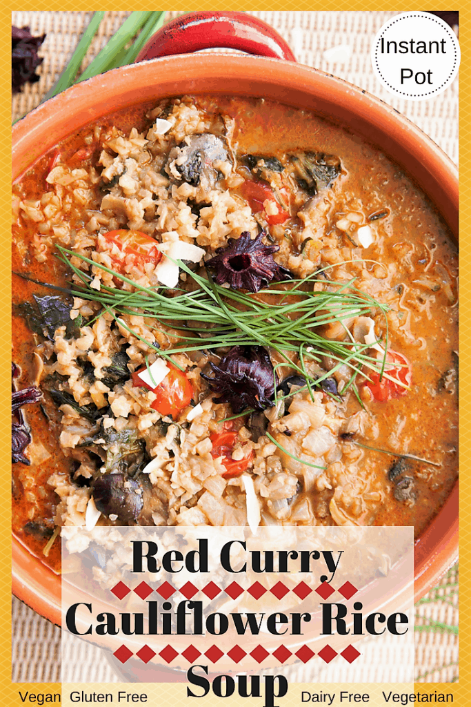Red Curry Cauliflower Rice Vegetable Soup