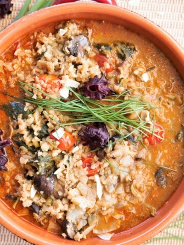 Red Curry Cauliflower Rice Vegetable Soup vert