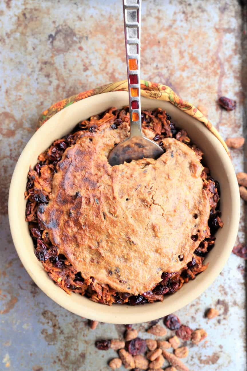 Instant Pot Sweet Potato Cranberry Bake