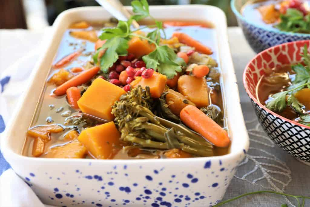 High alkaline vegetables in a spicy soup