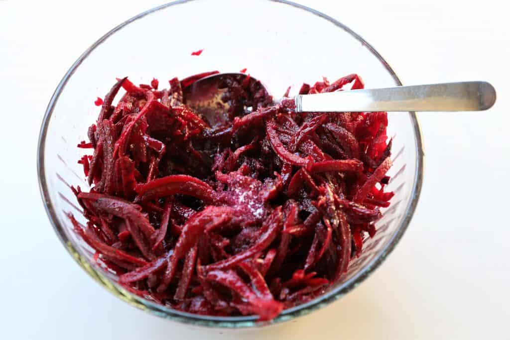 Add seasoning to beets