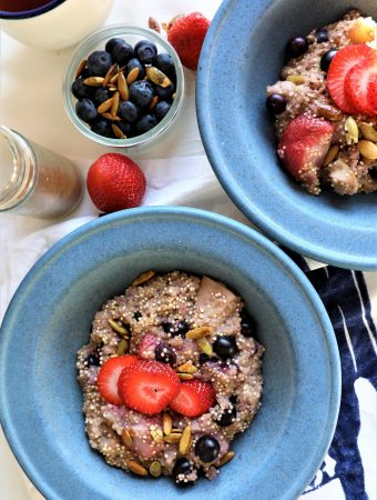 Quinoa Berry Breakfast Bowl Instant Pot