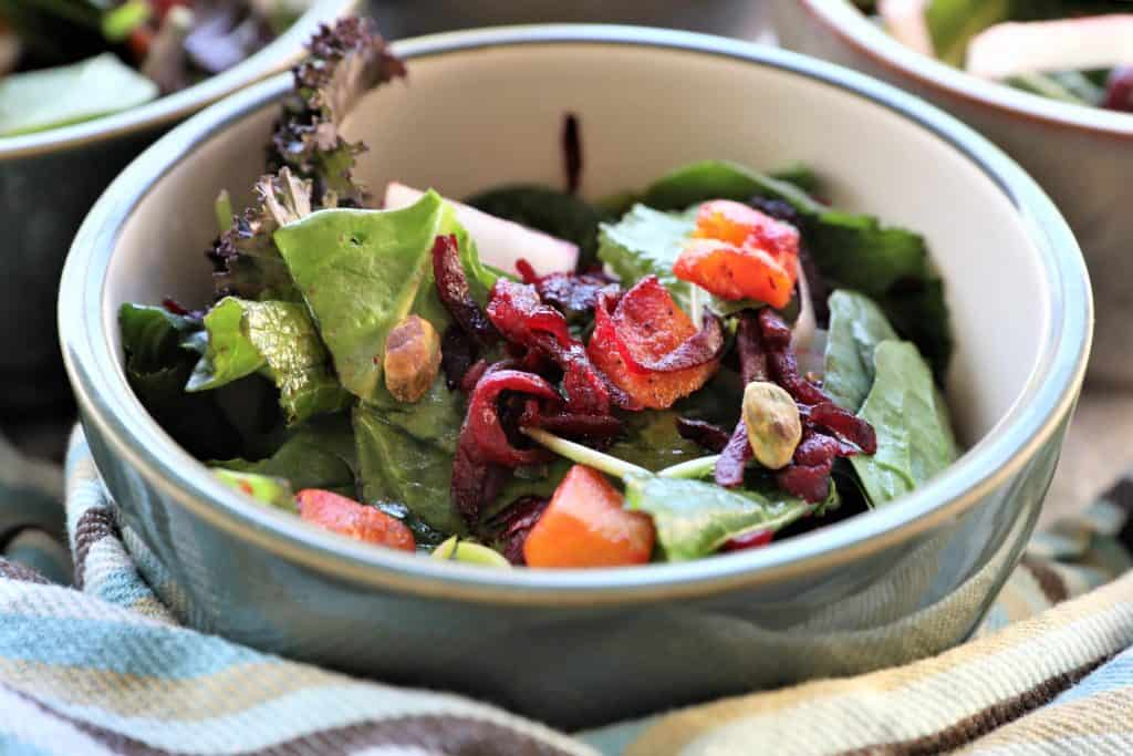 This salad doesn't need dressing with the maple glazed beets