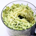 shredded zucchini in food processor